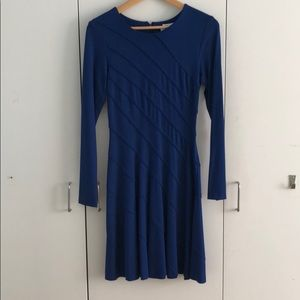 Royal blue Oscar de La Renta cocktail dress